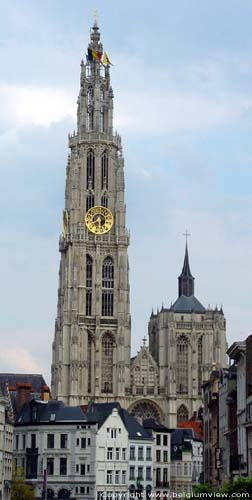 Our Ladies Cathedral ANTWERP 1 / ANTWERP picture Seen from the Schelde