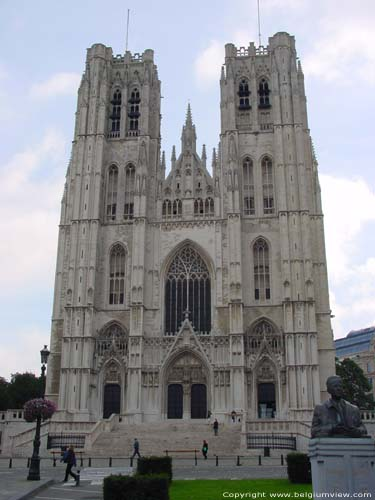 Saint-Michaels' cathedral (Saint-Michael and  Sainte-Gudule) BRUSSELS-CITY / BRUSSELS picture From Place Sainte-Gudule
