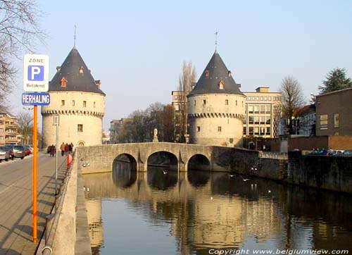 Broel bridge and towers KORTRIJK picture