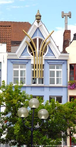 Blue decorated house GHENT picture