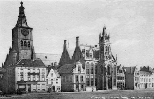 Market (before the first worldwar) DIKSMUIDE / DIXMUDE picture