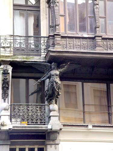 Gentlemen's house with wooden oriel BRUSSELS-CITY / BRUSSELS picture