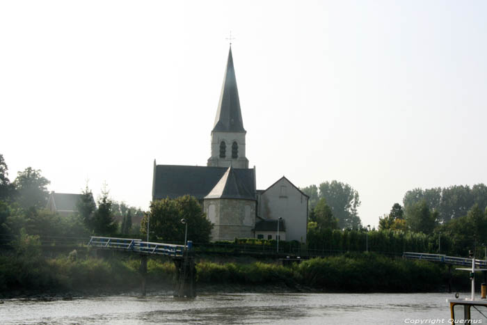 Saint John Decapitation Church (in Schellebelle) WICHELEN picture View from the other side of the river Scheldt
