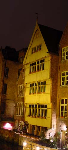 House with wooden facade - Jan Brouckaerd's House GHENT picture