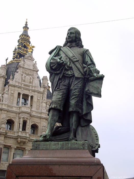 David Teniers (II) the Younger statue ANTWERP 1 / ANTWERP picture