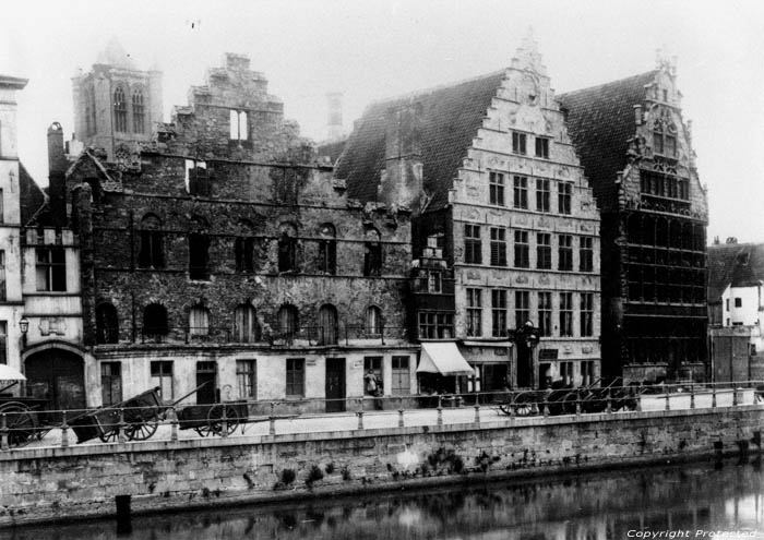 Graslei vers 1900 GAND photo