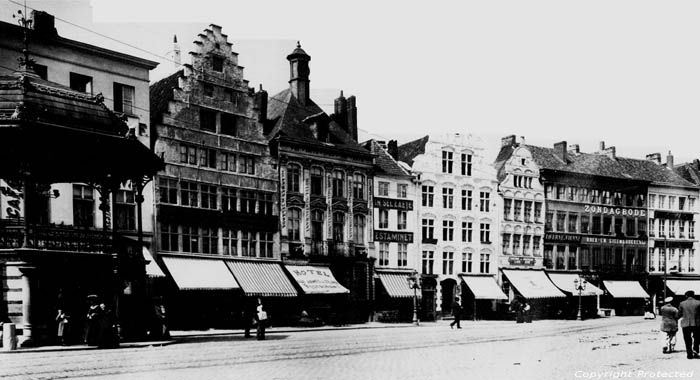 Korenmarkt anno 1900 GAND photo