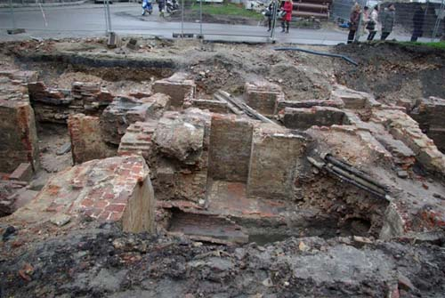 Excavations Emiel Braunplein GHENT picture