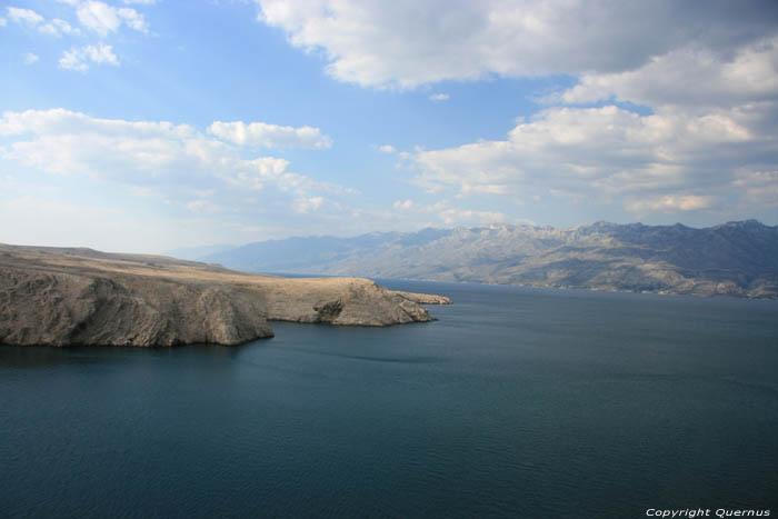 eastern end of pag island pag croatia