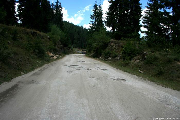 Road in bad shape Shiroka in BATAK / Bulgaria