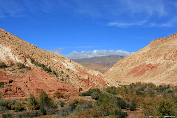 View on Valley Douar Anguelz Ounila / Morocco