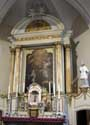 Saint-Nicholas RAEREN picture: The main altar in baroque style is flanked by 2 statues of Saint Nicholas.