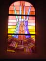 Church Saint-Etienne (in Waha) MARCHE-EN-FAMENNE picture: Window by Jean-Michel Folon